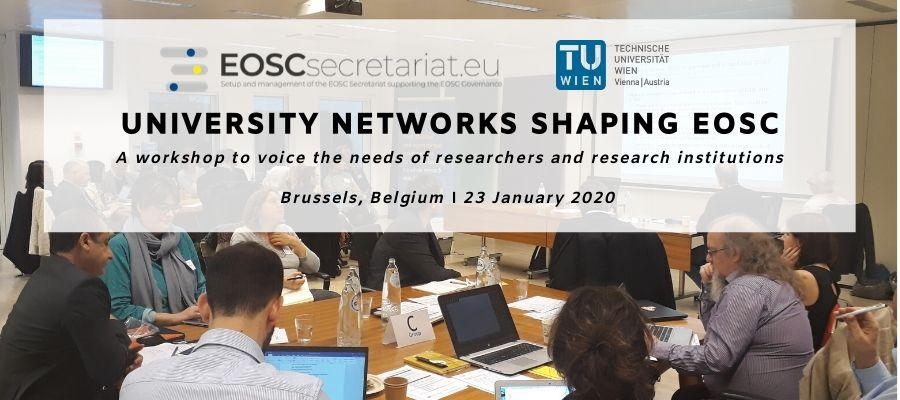 "Workshop	""University	Networks	shaping	EOSC"":	Synthesis	of	the takeaway messages"