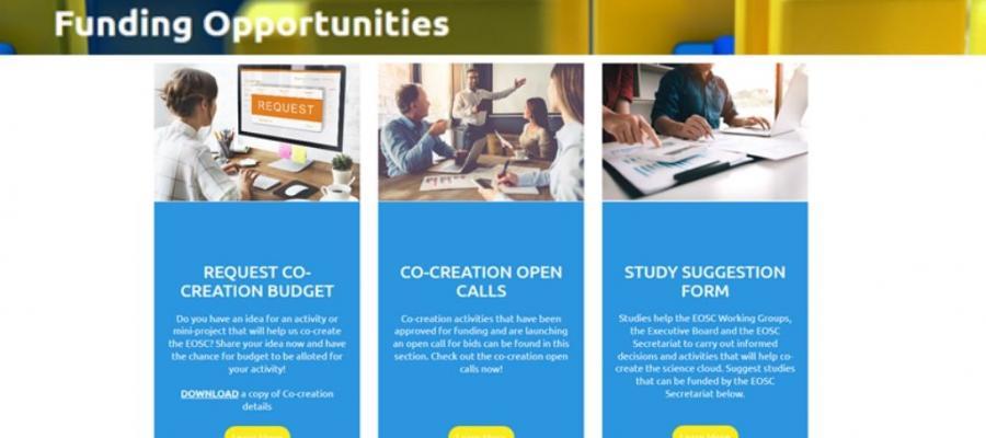 EOSC Secretariat's Funding Opportunities: Let's co-create now!