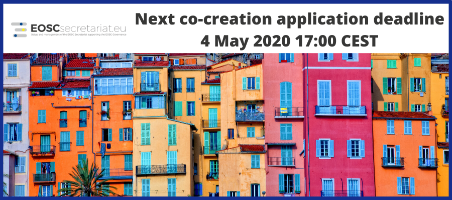 Co-creation funding opportunities - Next application deadline on 4 May 2020
