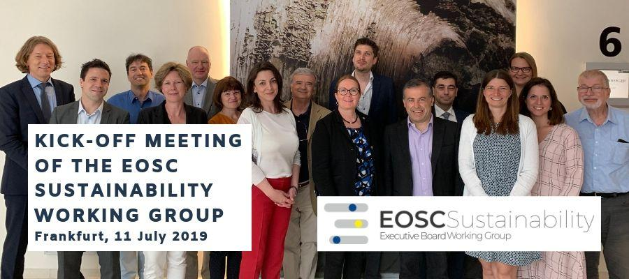 Kick-off meeting  of the EOSC Sustainability Working Group