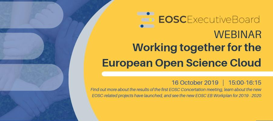 Webinar - Working together for the European Open Science Cloud