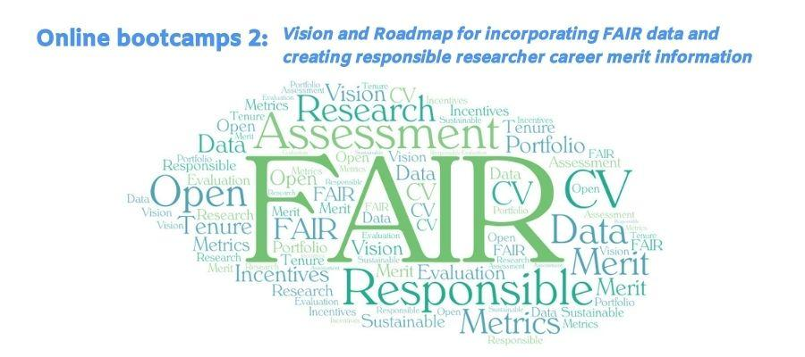 TSV Online Bootcamps 2: Vision and Roadmap for incorporating FAIR data and creating responsible researcher career merit information