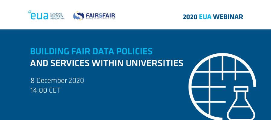 EUA-FAIRsFAIR webinar: Building FAIR data policies and services within universities