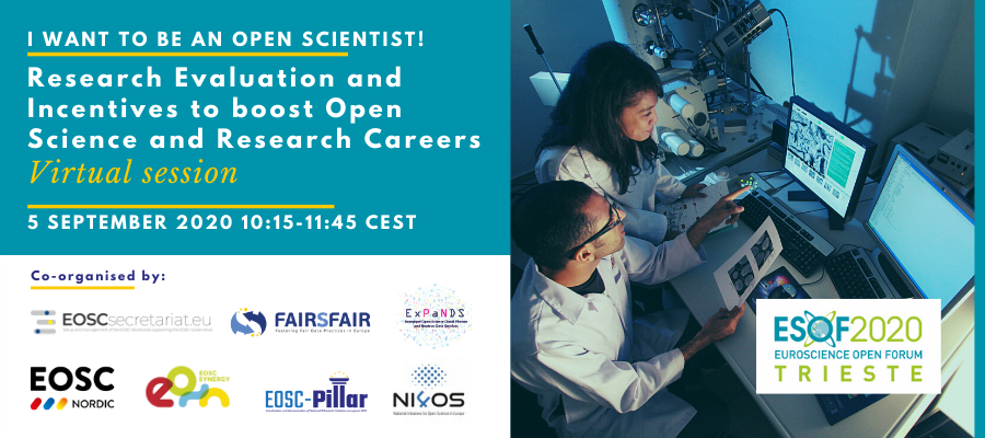 EOSC Secretariat at ESOF 2020 - Research Evaluation and Incentives to boost Open Science and Research Careers