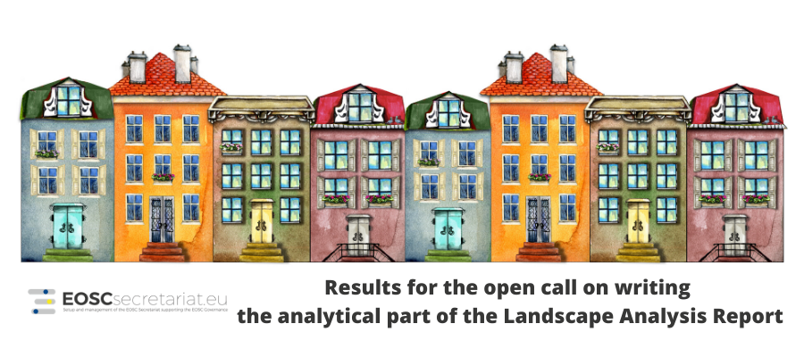 Results for the open call on writing the analytical part of the Landscape Analysis Report