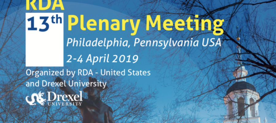 RDA Thirteenth Plenary Meeting, Philadelphia, US