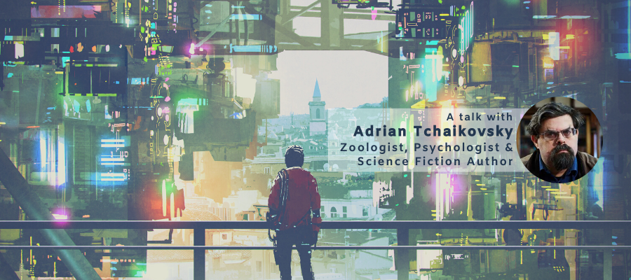 Visions, needs and requirements for Future Research Environments: An Exploration with Zoologist and Psychologist and Science Fiction Author Adrian Tchaikovsky