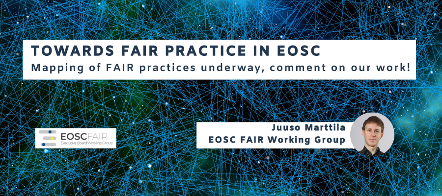 Towards FAIR practice in EOSC